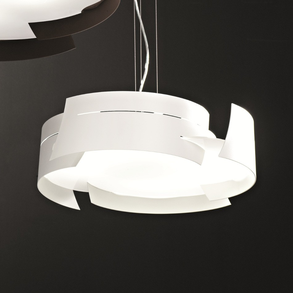 Vulture Suspension Lamp - White 59.5cm