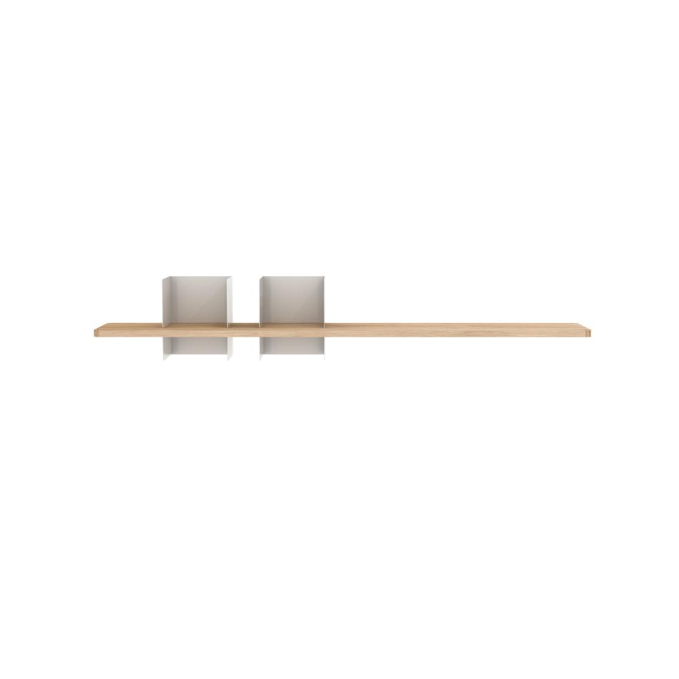 Mensola Clip Medium Duo Bianco