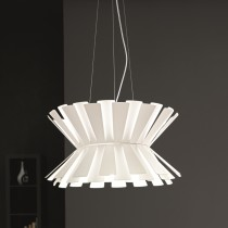 Elettra Suspension Lamp - White 58cm