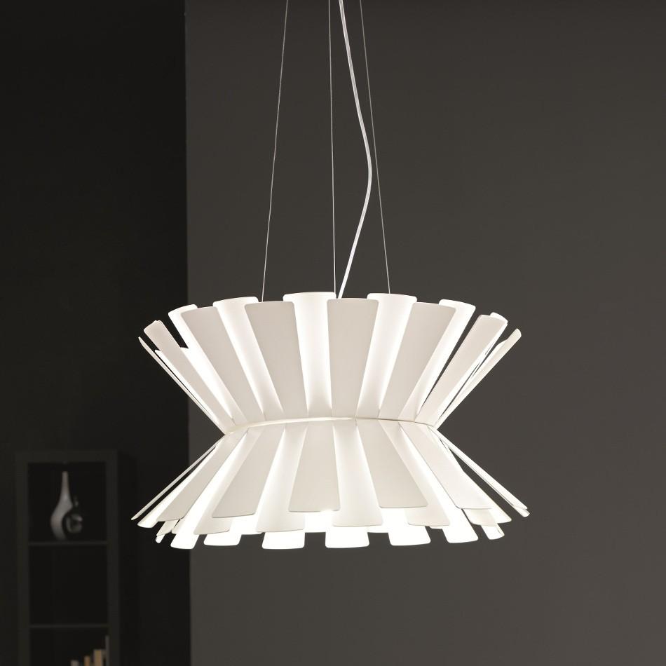 Elettra Suspension Lamp - White 58cm