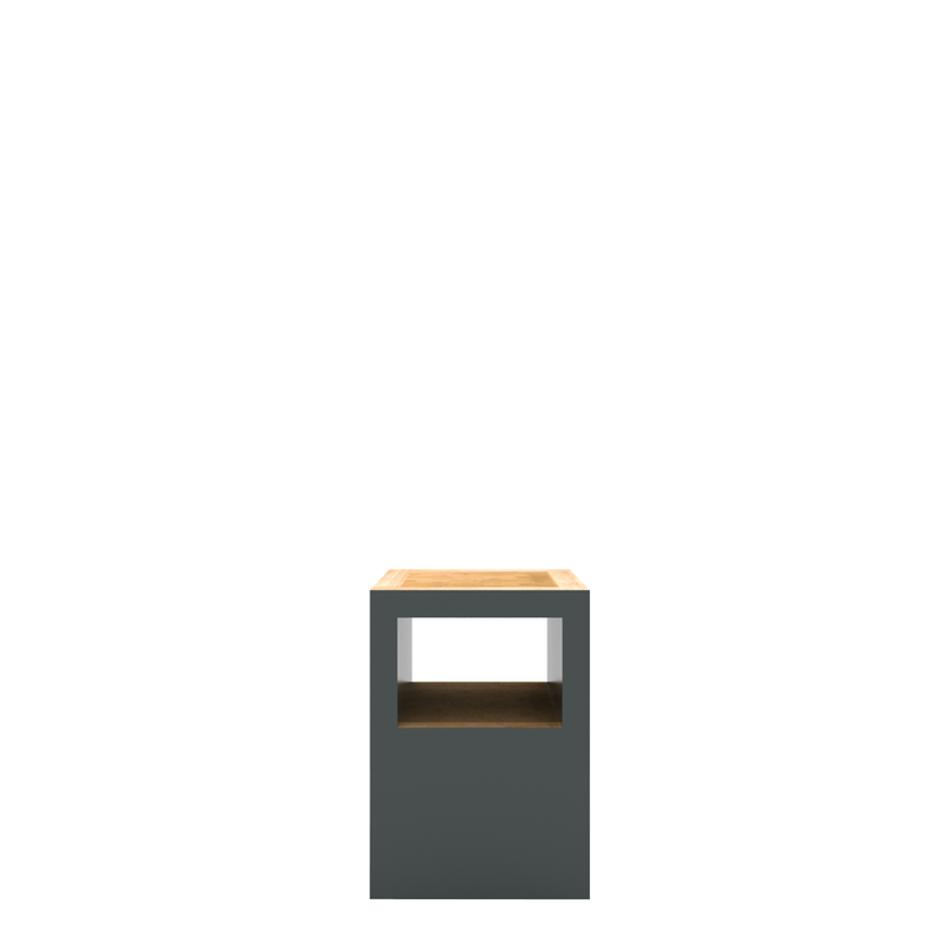 Block Stool Open Traffic Gray