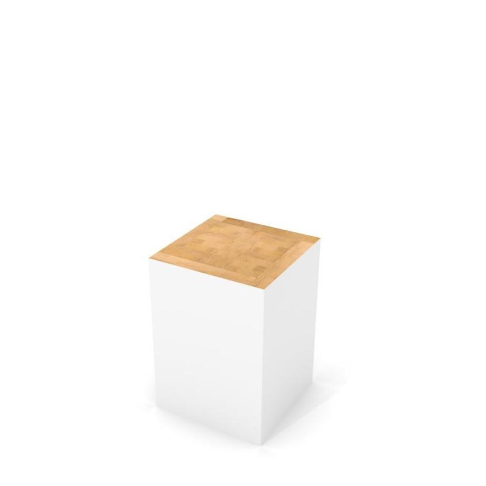 Block Stool White