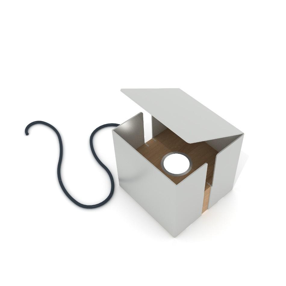 Box Lamp - Agate Gray