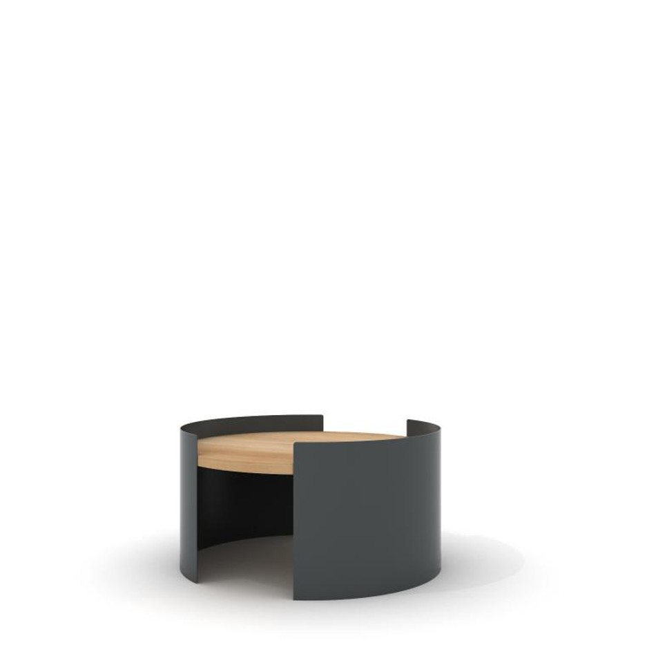 Moon Table Small Traffic Gray