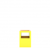Block Stool Open Yellow