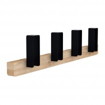 Merlin Large Coat Hanger Black by UNIVERSO POSITIVO - natural oak, coated metal